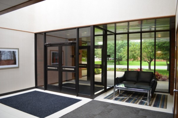 albany office rental - lobby renovation at corporate plaza
