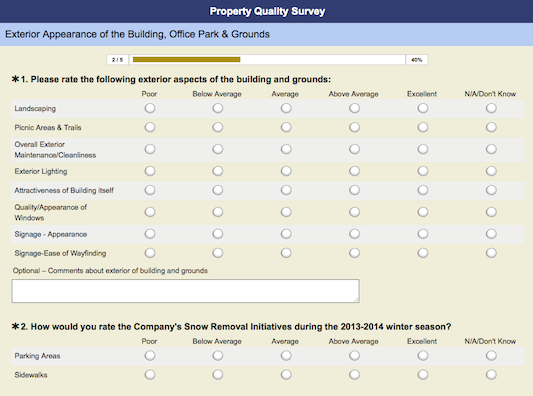 Property Quality Survey Out