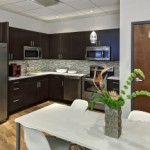 Open kitchen in Rosenblum Offices is a popular space to meet.