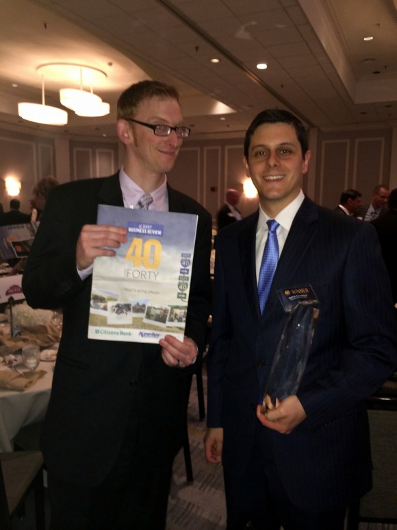"""Albany Business Review """"40 Under Forty"""" Award"""