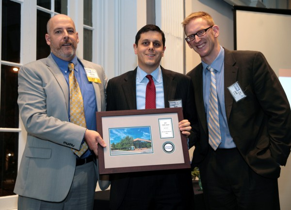 Seth Rosenblum and Jeff Mirel accepting the Earth Award.