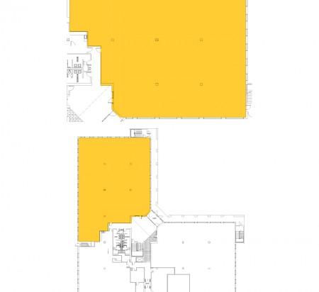 9,504 SF 1st Floor Office Space Floor Plan