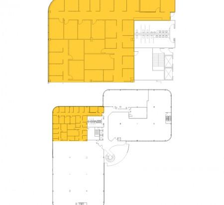 4,245 SF 3rd Floor Office Space Floor Plan