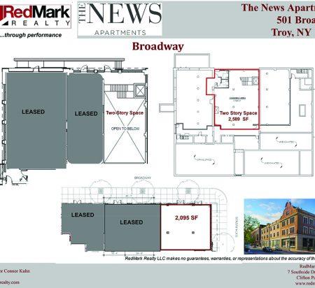 2,095–2,589 SF Retail Space Floor Plan