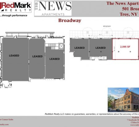 2,095 SF Retail Space Floor Plan