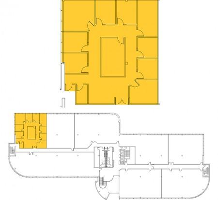 2,623 SF 2nd Floor Office Space Floor Plan