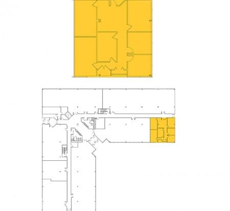 1,957 SF 1st Floor Office Space Floor Plan