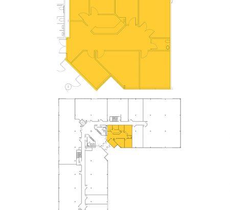 1,994 SF 1st Floor Office Space Floor Plan