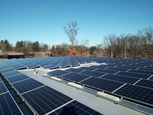 Solar panels at Great Oaks Office Park