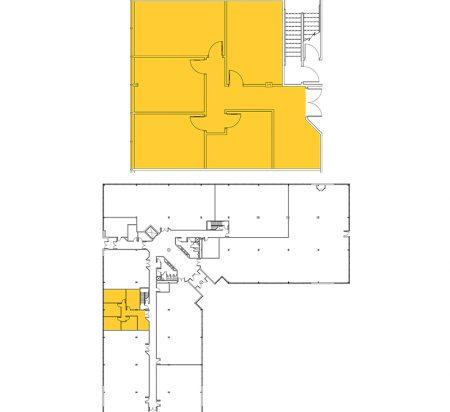 1,567 SF 1st Floor Office Space Floor Plan