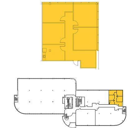 1,616 SF 3rd Floor Office Space Floor Plan