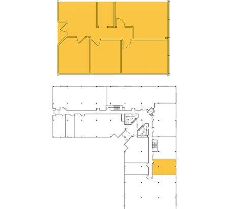 1,262 SF 1st Floor Office Space Floor Plan