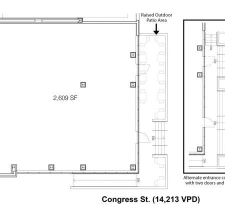 2,609 SF Retail Space Floor Plan