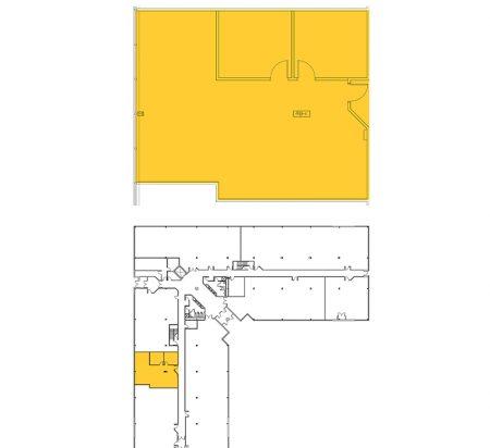 1,542 SF 1st Floor Office Space Floor Plan