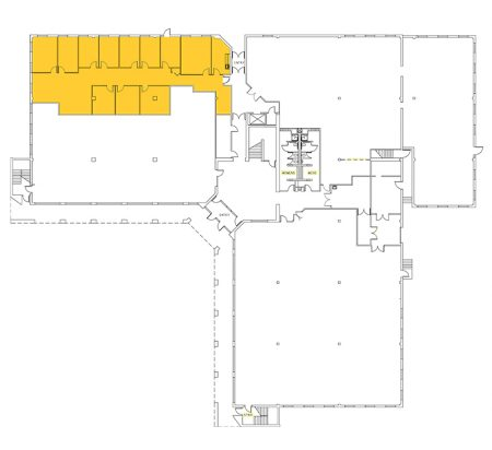 3,824 SF 1st Floor Office Space Floor Plan