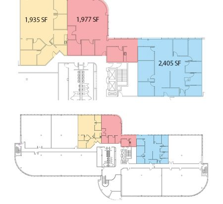 1,935–6,317 SF 2nd Floor Office Space Floor Plan