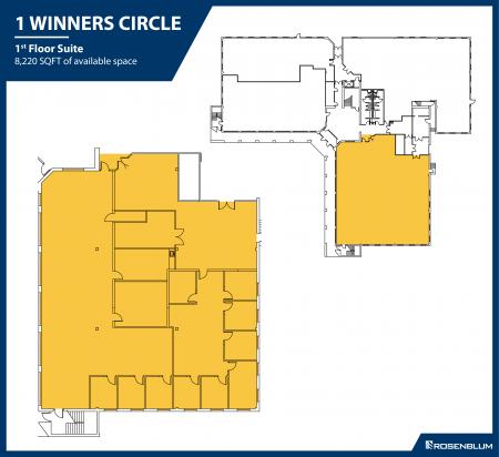 8,220 SF 1st Floor Office Space Floor Plan