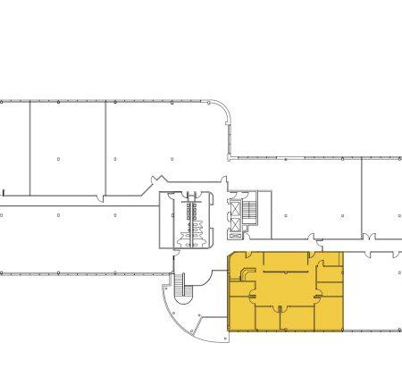 3,025 SF 2nd Floor Office Space Floor Plan
