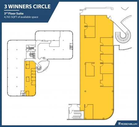 4,765 SF 3rd Floor Office Space Floor Plan