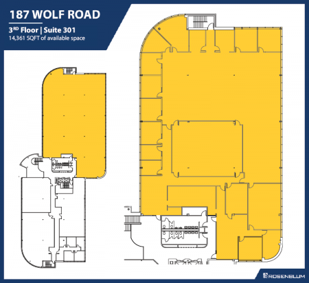 14,316 SF 3rd Floor Office Space Floor Plan