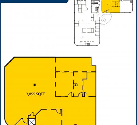 3,855 SF 3rd Floor Office Space Floor Plan