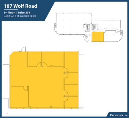 2,384 SF 3rd Floor Office Space Floor Plan